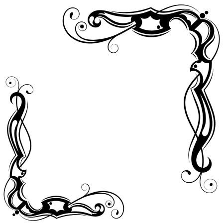 Tribal Black-white Tattoo Design Stock Vector - 18026499