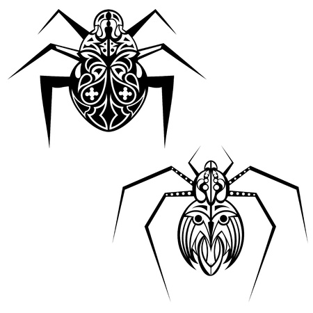 Spider tattoo Stock Vector - 18026513