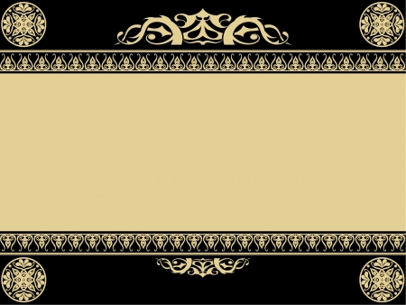 Vintage background with gothic design elements Vector