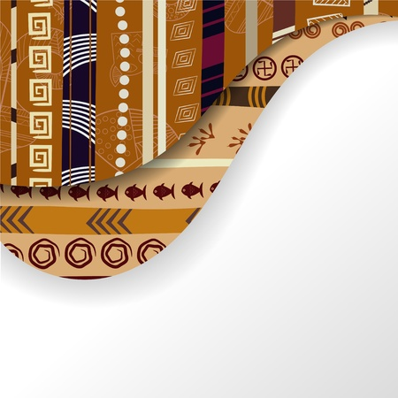 Abstract background with African elements Vector