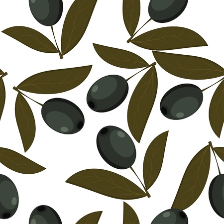 abstract art vegetables: Seamless texture of black olives