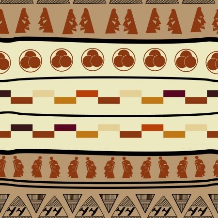 Seamless pattern with african elements Stock Vector - 18418209