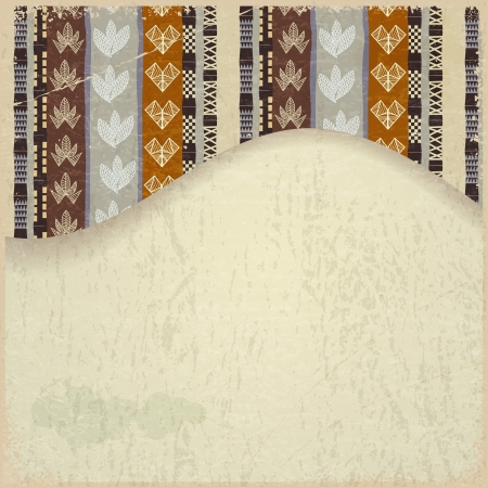 Abstract background with African Tribal elements Stock Vector - 18418213