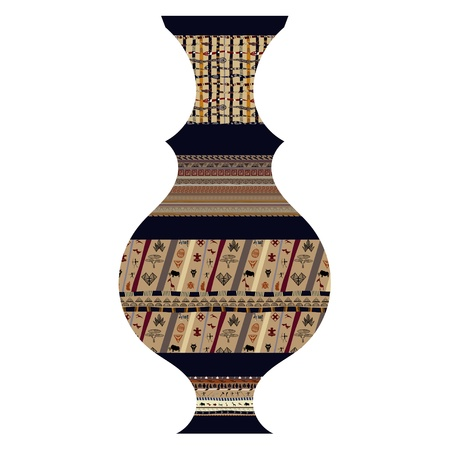 Tribal vase Stock Vector - 18418216