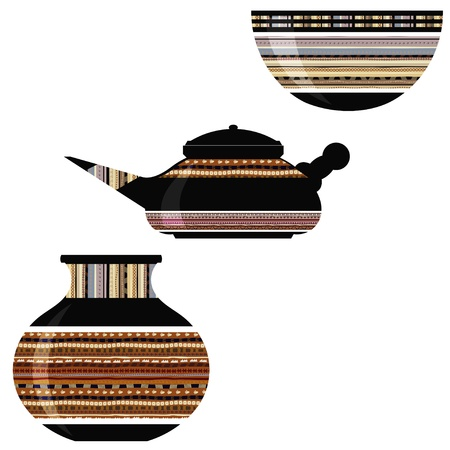 Tribal vase and pot Vector