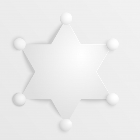 deputy: Stylized image of a sheriffs star on white background Illustration