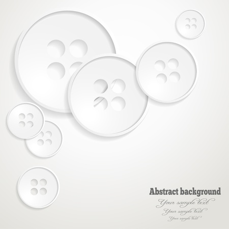 Abstract background with the image of buttons Vector