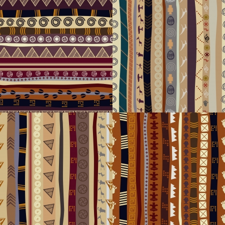 Set of patterns tribal pattern Vector