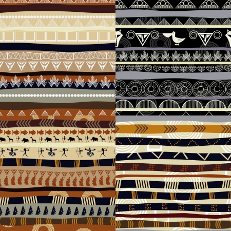 ethno:  Set of tribal primitive african pattern