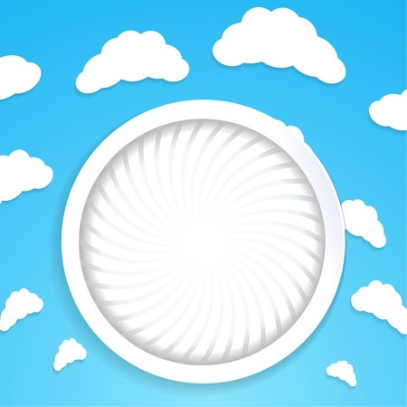 Abstract circular background with clouds Stock Vector - 18693613