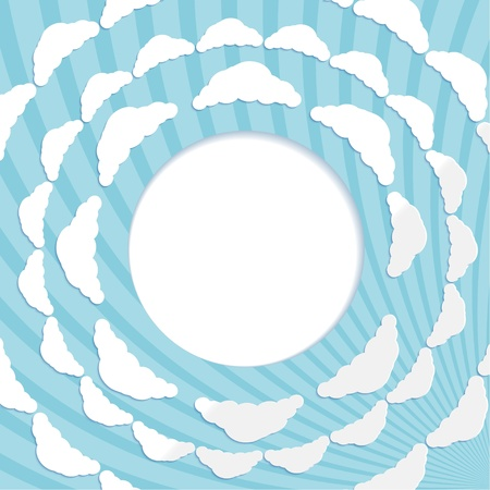 Abstract circular background with clouds Stock Vector - 18695939