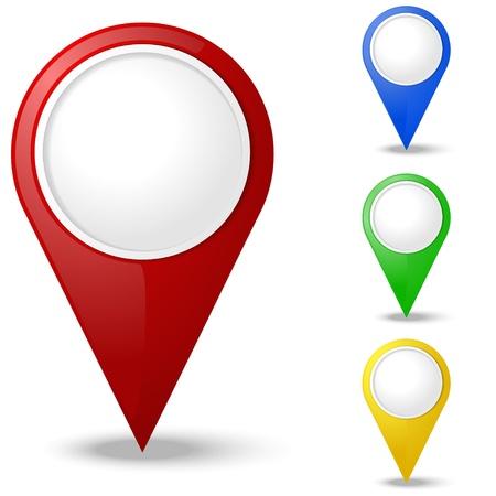 mapa: Conjunto de ronda punteros del mapa 3D