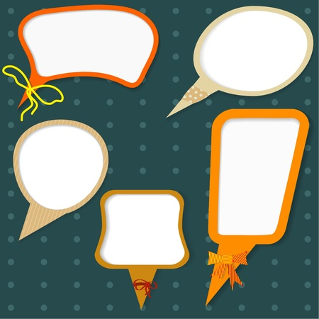 Vector  set of  colors speech bubbles Vector