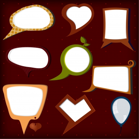 Set of  colors  vector speech bubbles Vector