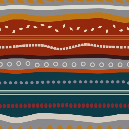 Tribal seamless texture with colored elements Stock Vector - 20469787