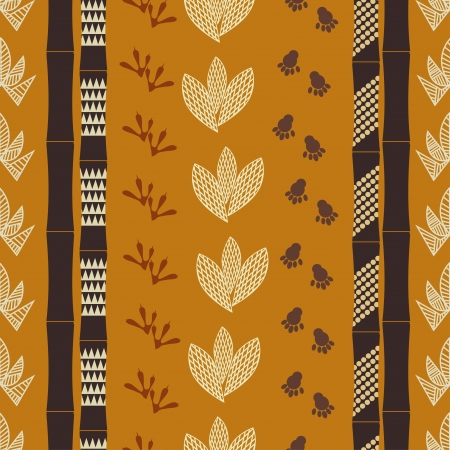 Seamless pattern with Tribal drawing Vector