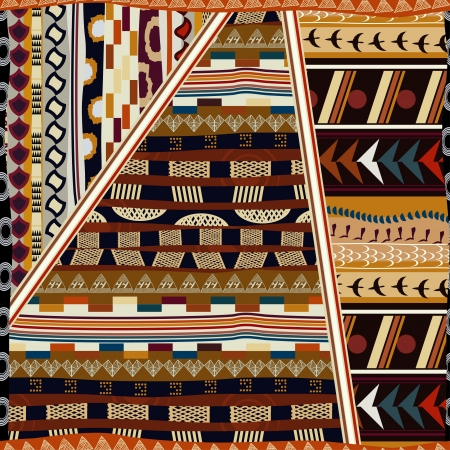 african american vintage: Indian seamless pattern