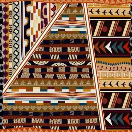 ilustraciones africanas: Seamless indio Vectores