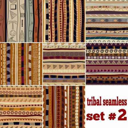 Set of seamless patterns in ethnic style Stock Vector - 20594479
