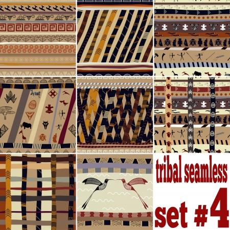 arte africano: Conjunto sin fisuras de los patrones tradicionales