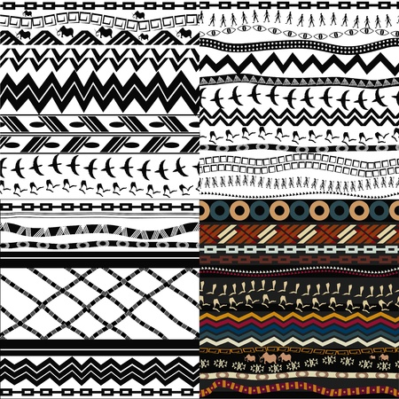ilustraciones africanas: Juego de patrones sin fisuras