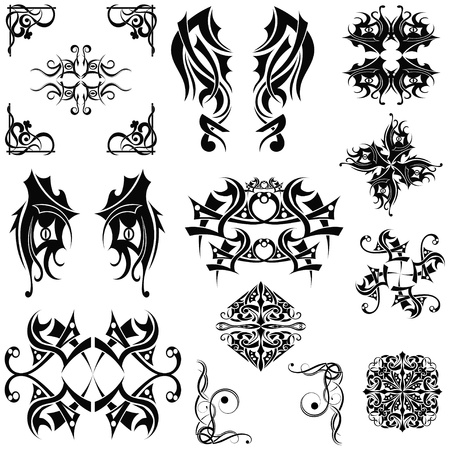 the gothic style: Set Tribal elements