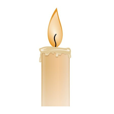 Illustration of a burning candle wax Vector