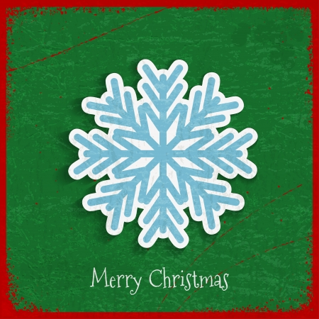 Paper snowflake on Christmas vintage background Vector