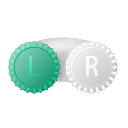 lentes de contacto: Contenedor para lentes