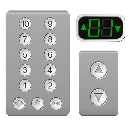 panel de control: Levante el panel de control en un fondo blanco