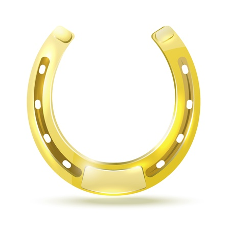 Golden Horseshoe Stock Vector - 22066200