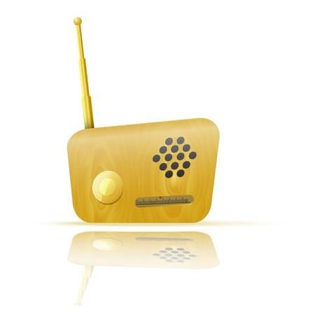 Retro Radio App Icon Stock Vector - 22066404