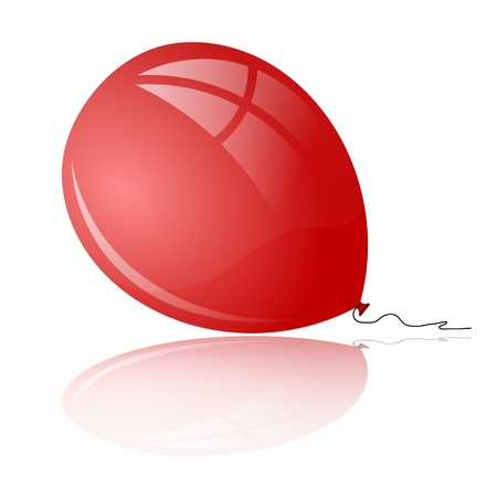 Red balloon with reflection Stock Vector - 22066411