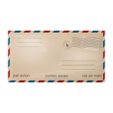Old airmail envelope Vector