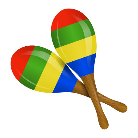 maracas: Image of maracas on a white background