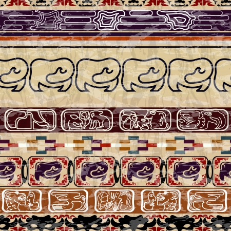 Vintage Ethnic seamless texture Vector
