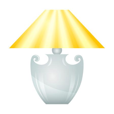 lampshade: Lamp with yellow lampshade