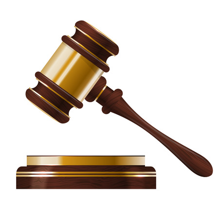 Wooden judges gavel Illustration