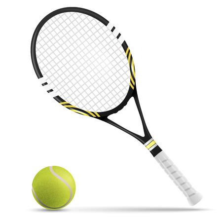 raqueta de tenis: Tenis raqueta y pelota