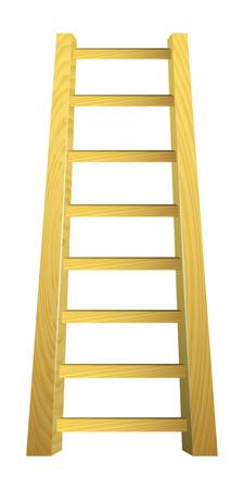 rungs: Escalera de madera