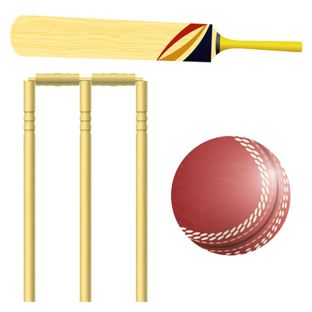 Items for cricket Stock Vector - 22593337
