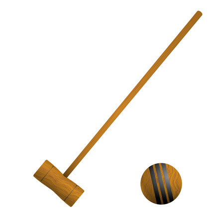 Mallet and ball croquet Vector