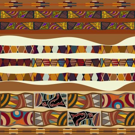 아프리카의 원활한 질감 일러스트