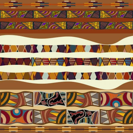 Seamless texture of African Vector