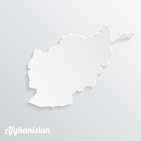 Abstract icon map of Afghanistan on a gray background Vector