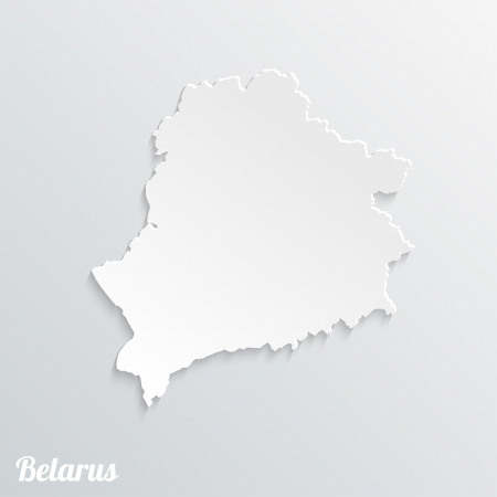 Abstract icon map of  Belarus on a gray background Vector