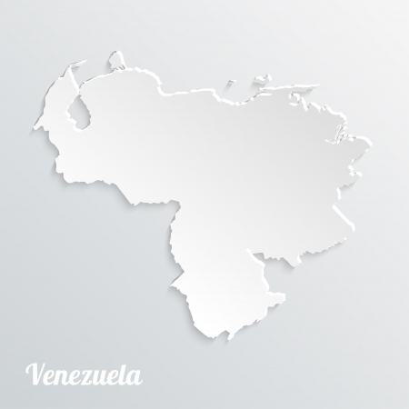 Abstract icon map of  Venezuela on a gray background Vector