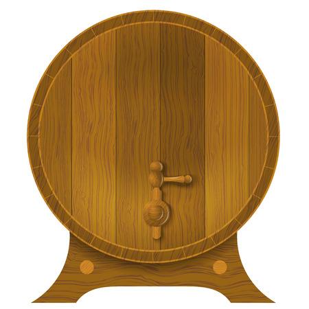 oak barrel: Ancient oak barrel