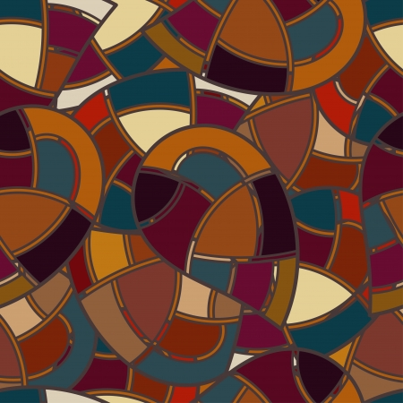 stained glass panel: Seamless texture with elements of stained glass Illustration