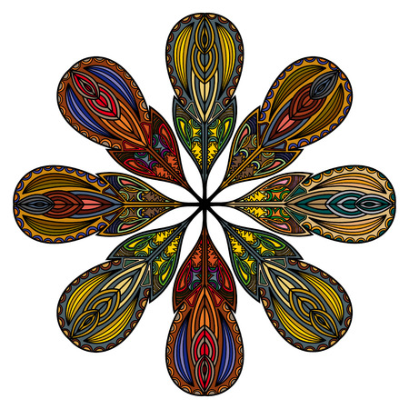 Mandala of the fantastic feathers Vector